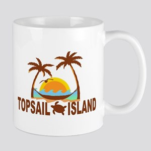 Topsail Island NC - Palm Trees Design Mug