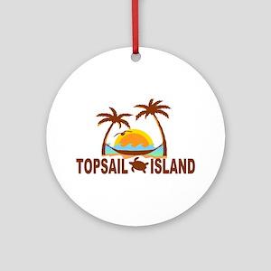 Topsail Island NC - Palm Trees Design Ornament (Ro