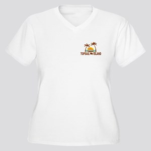 Topsail Island NC - Palm Trees Design Women's Plus