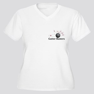 Gutter Busters Logo 6 Women's Plus Size V-Neck T-S