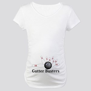Gutter Busters Logo 6 Maternity T-Shirt Design on