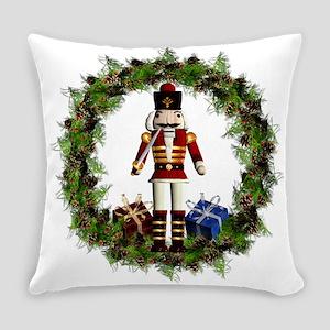 Red Nutcracker Wreath Everyday Pillow