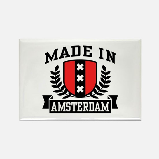 Made In Amsterdam Rectangle Magnet