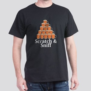 Scratch and Sniff Logo 7 Dark T-Shirt Design Front