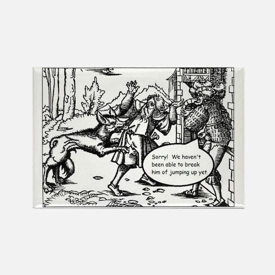 Medieval Mayhem - Werewolf Rectangle Magnet