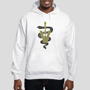 Veterinary Caduceus Hooded Sweatshirt