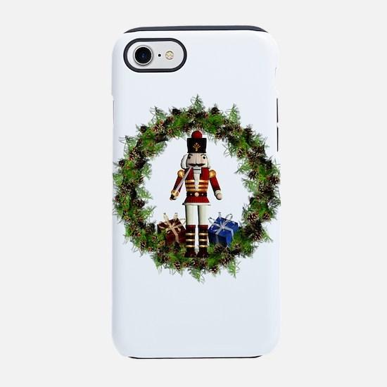 Red Nutcracker Wreath iPhone 7 Tough Case