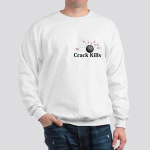 Crack Kills Logo 6 Sweatshirt Design Front Pocket
