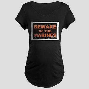 Beware / Marines Maternity Dark T-Shirt
