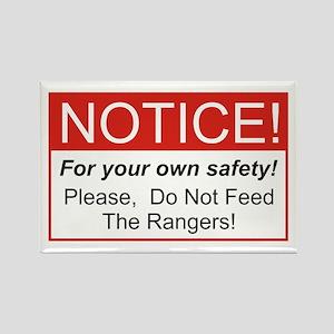 Notice / Rangers Rectangle Magnet