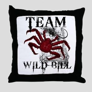 Team Wild Bill Throw Pillow