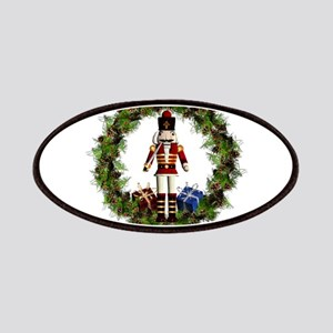 Red Nutcracker Wreath Patch