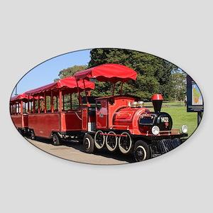 Red Tourist Train Sticker