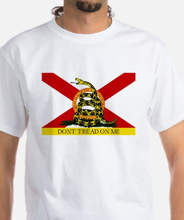 Don't Tread on Me Florida White T-Shirt