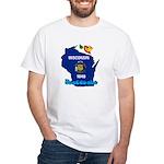 ILY Wisconsin White T-Shirt