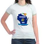 ILY Wisconsin Jr. Ringer T-Shirt
