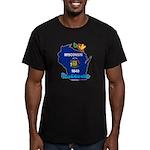 ILY Wisconsin Men's Fitted T-Shirt (dark)