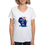 ILY Wisconsin Women's V-Neck T-Shirt