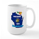 ILY Wisconsin Large Mug