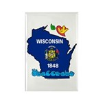 ILY Wisconsin Rectangle Magnet (100 pack)