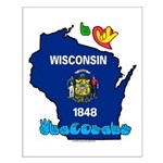 ILY Wisconsin Small Poster