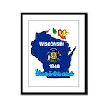 ILY Wisconsin Framed Panel Print