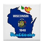 ILY Wisconsin Tile Coaster