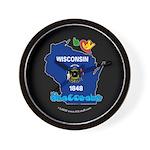ILY Wisconsin Wall Clock
