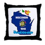 ILY Wisconsin Throw Pillow