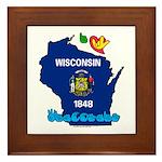 ILY Wisconsin Framed Tile