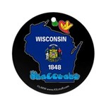 ILY Wisconsin Ornament (Round)