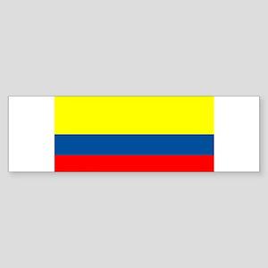 Colombia Colombian Blank Flag Bumper Sticker