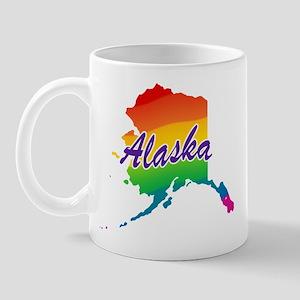 State Alaska Rainbow Mug
