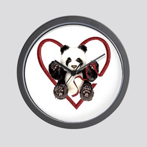 China Panda Love Wall Clock