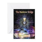 RainbowBridgeRGBFlatPoster12x18 Greeting Cards