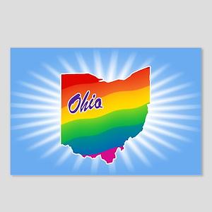 Gay Pride Rainbow Ohio Postcards (Package of 8)