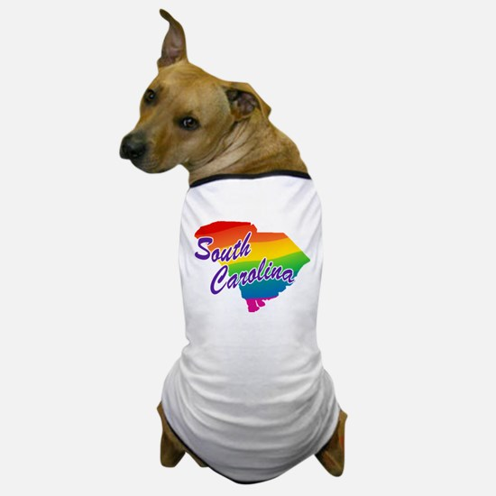 Gay Pride Rainbow South Carolina Dog T-Shirt
