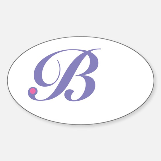 Initial B Sticker (Oval)