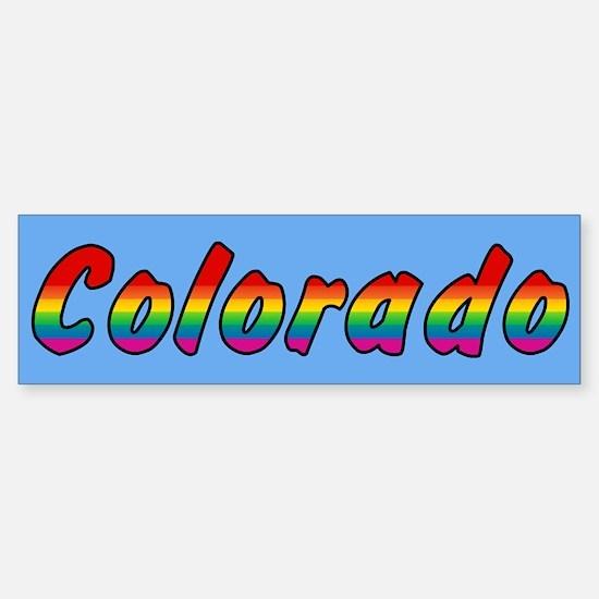 Rainbow Colorado Text Sticker (Bumper)