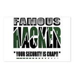 famous hacker funny slogan Postcards (Package of 8