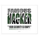 famous hacker funny slogan Poster Design