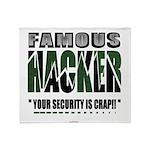 famous hacker funny slogan Throw Blanket