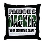 famous hacker funny slogan Throw Pillow