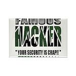 famous hacker funny slogan Magnets