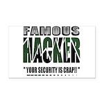 famous hacker funny slogan Rectangle Car Magnet