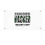 famous hacker funny slogan Banner