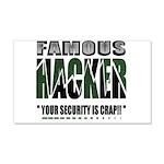 famous hacker funny slogan Wall Sticker