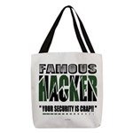 famous hacker funny slogan Polyester Tote Bag