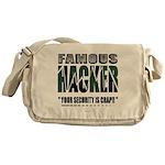 famous hacker funny slogan Messenger Bag