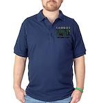 famous hacker funny slogan Dark Polo Shirt